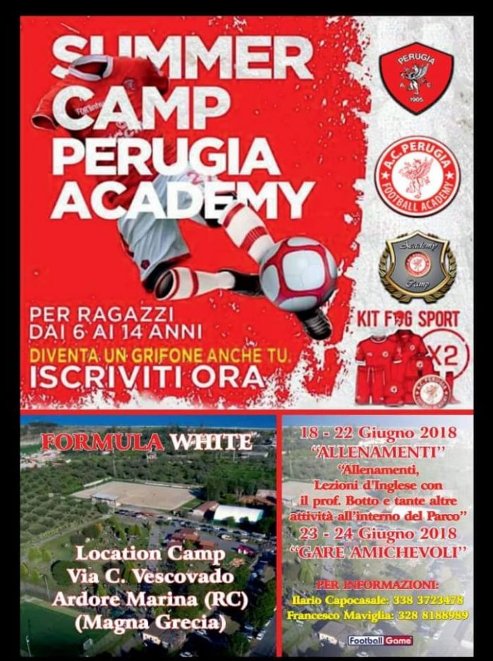 AUDAX BOVALINESE Perugia Academy Summer Camp